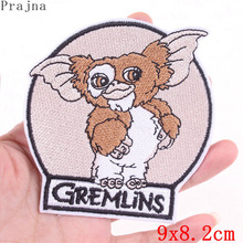 Prajna Cartoon Iron On Embroidered Patches For Clothing Cute Anime Gremlins Patch GIZMO Character Stickers Stripes Kids Badges