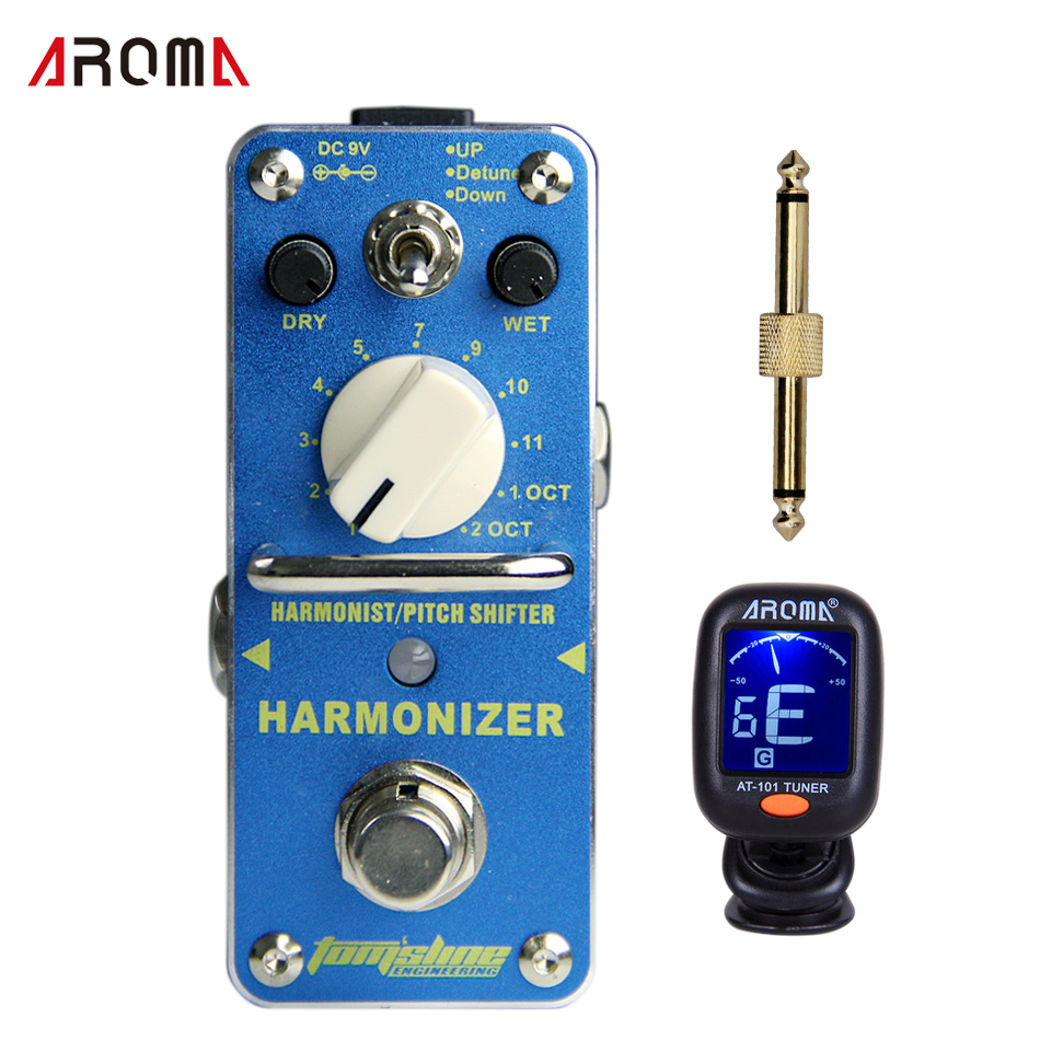 Promotion Group AROMA AHAR-3 HARMONIZER Pitch shifter Dry, wet and range control Mini Digital Effect True Bypass aroma ahar 3 harmonizer harmonist pitch shifter electric guitar effect pedal mini single effect with true bypass