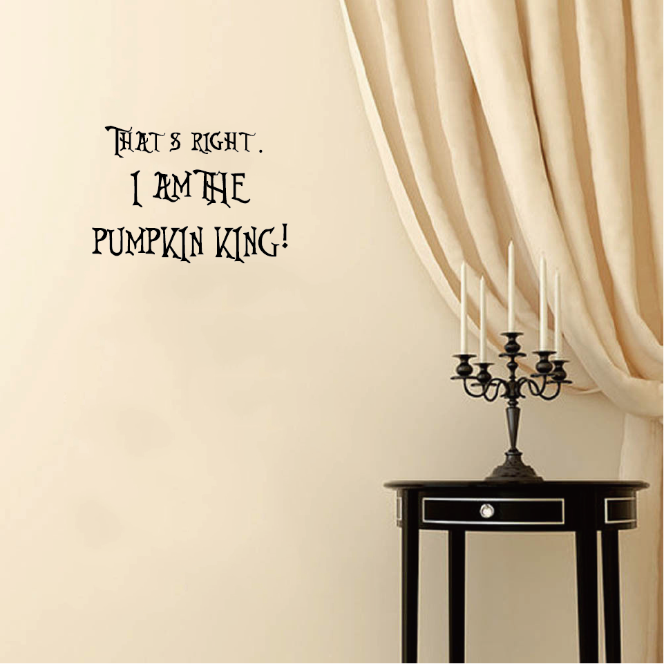 Halloween Nightmare Before Christmas Pumpkin King Vinyl Wall Sticker ...