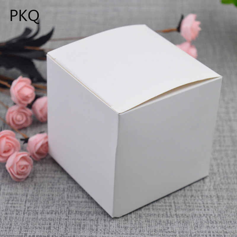 22Sizes 5*5*5cm /6*6*6cm Blank white packaging gift small black cardboard boxes,square kraft paper cardboard packaging paper box