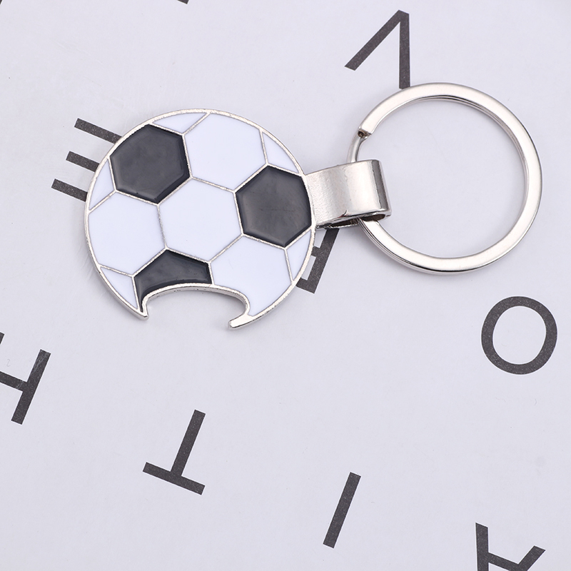 Trendy-Football-Key-Chain-Creative-Beer-Bottle-Opener-Keychain-Enamel-Black-White-Soccer-Key-Ring-Unisex (3)