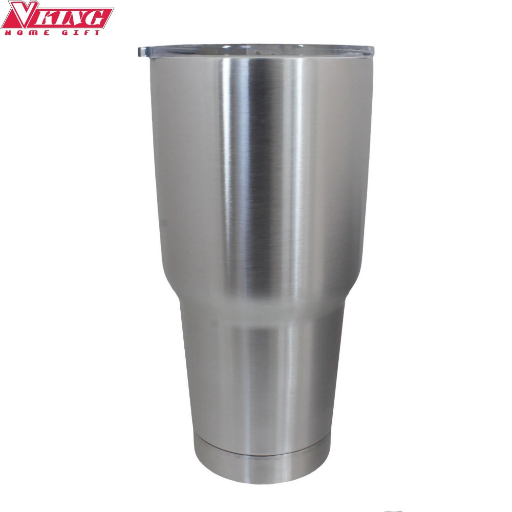 vking 30oz stainless steel travel mug insulated tumbler coffee mug with regular lid splash proof sliding lid include straw - Coffee Travel Mugs