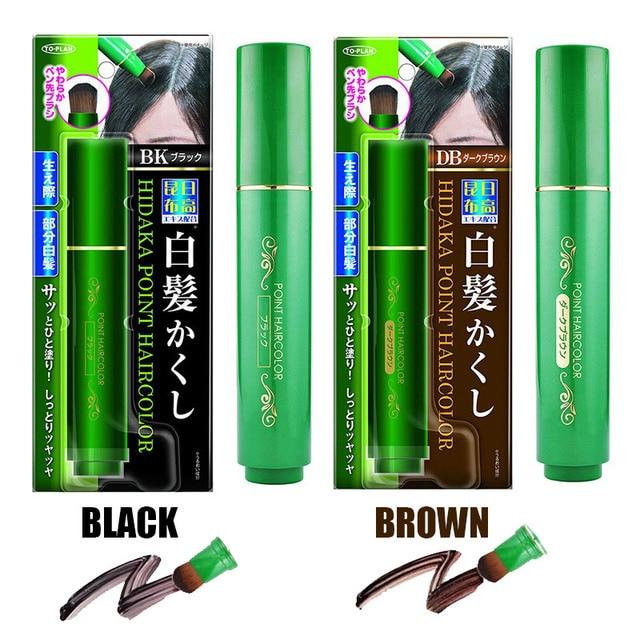 natural herb white hair cover pen long lasting black brown temporary
