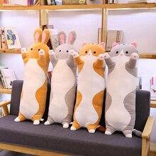 Плюшевые животные, кошка, кролик, милый Длинный мягкий подарок, креативная офисная Подушка для сна, обеденного перерыва, подушка, плюшевая набивная Подарочная кукла