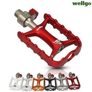 Image 2 - Wellgo Originele M111 Quick Release Non quick Release Fiets Pedalen Racefiets Ultralight Pedaal MTB Fietsen Bearing Pedalen