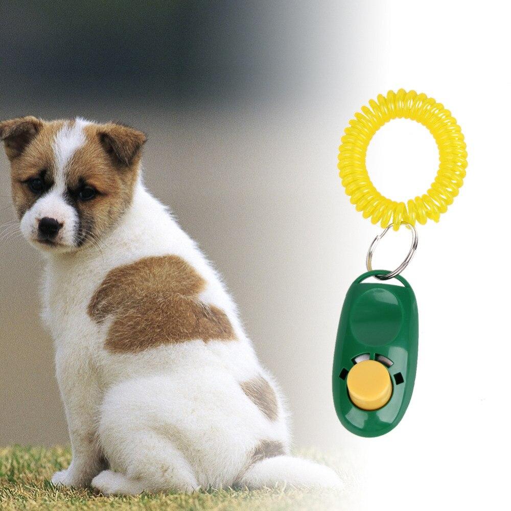 Nieuwe Hond Pet Klik Clicker Training Trainer Hulp Wrist Hond Levert Kleur Willekeurig Sturen Ongelijke Prestaties