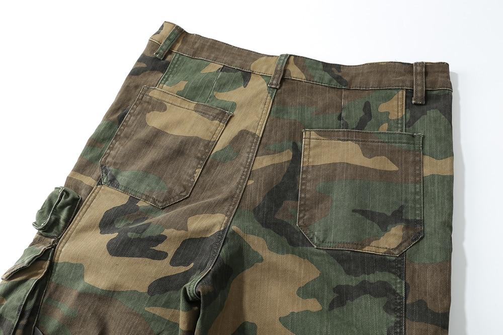 2018 nueva caliente hombres hip hop moda Pantalones de camuflaje hiphop  calle ropa joggers Pantalones de chándal hiphop bolsillo cargo Pantalones  en ... fb7a597c2c2