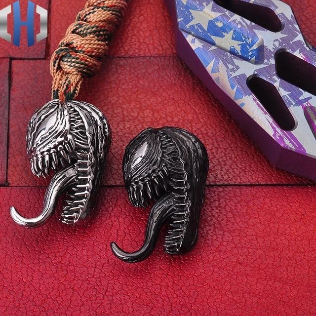 Metalen Venom Mes Hanger Draagbare Speelgoed Sleutelhanger Decoratieve Ornamenten Opknoping Ornamenten Hanger EDC Outdoor