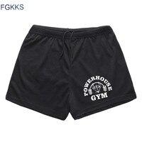 FGKKS New Summer Men S Short Homme Gyms Sporting Shorts Men Bermuda Casual Brand Clothing Letter