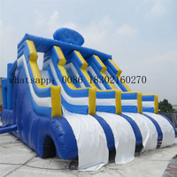 Inflatable water slide jumping with inflatable slide pool for kids water slide