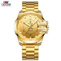 TEVISE Watch Men Luxury Automatic Mechanical Watches Luminous Business Mens Wristwatch Waterproof Gold Clock Relogio Masculino