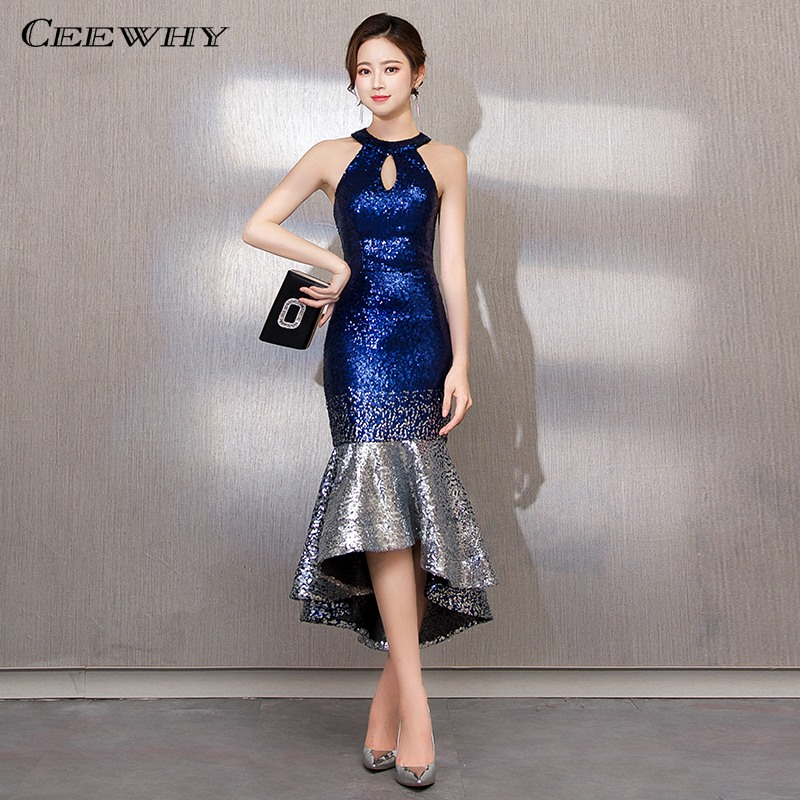 CEEWHY Off Shoulder Mermaid   Dress   Formal Party Gown for Ladies Short   Evening     Dresses   Vestidos Largos Sukienka Wieczorowa