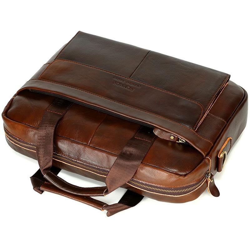 Décontracté hommes Messenger porte-documents sac ordinateur portable homme sacs à main en cuir PU hommes sacs à bandoulière Designer porte-documents pour homme voyage - 2