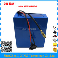 36V 1000W E bike lithium ion battery 36v 20ah electric bike battery For 36V 1000w/500w 8fun bafang motor with charger 30A BMS