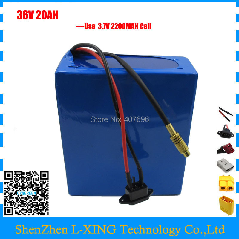 36V 1000W lithium ion battery 36v 20ah electric bike battery For 36V 1000w/500w 8fun bafang motor scooter with charger 30A BMS