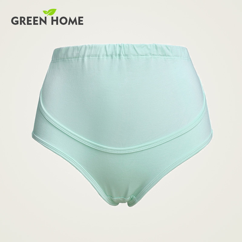 Green Home factory direct maternity panties 100% cotton high waist belts Intimate apparel adjustable plus size underwear