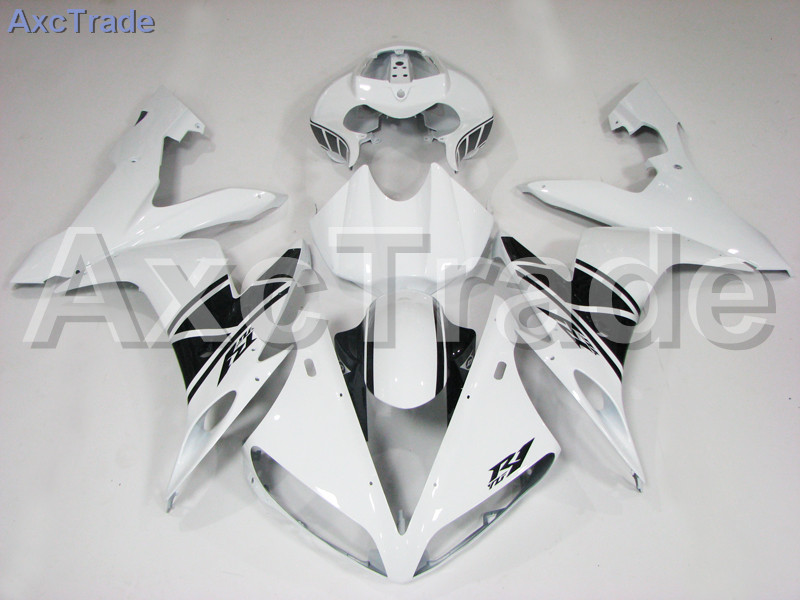 Motorcycle Fairings Kits For Yamaha YZF-R1000 YZF-R1 YZF 1000 R1 2004 2005 2006 ABS Injection Fairing Bodywork Kit White Black wotefusi black motorcycle injection mold bodywork motorcycle fairing for 2004 2005 2006 yamaha yzf1000 r1 04 05 06 3 [ck813]