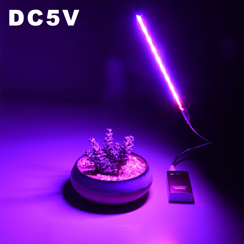 DC 5V USB Grow Light Full Spectrum 2.5W 4.5W 14LED 27LEDs Plant Growing Lamp Extension Pole For Desktop Flower Growth Power Bank