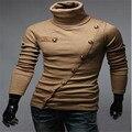 MEBOSYA hombres Coreanos de La Manera Caliente de manga larga Cuello Montones Xie Jin, restar Polo, Suéter de los hombres, tamaño: M, L, XL, XXL