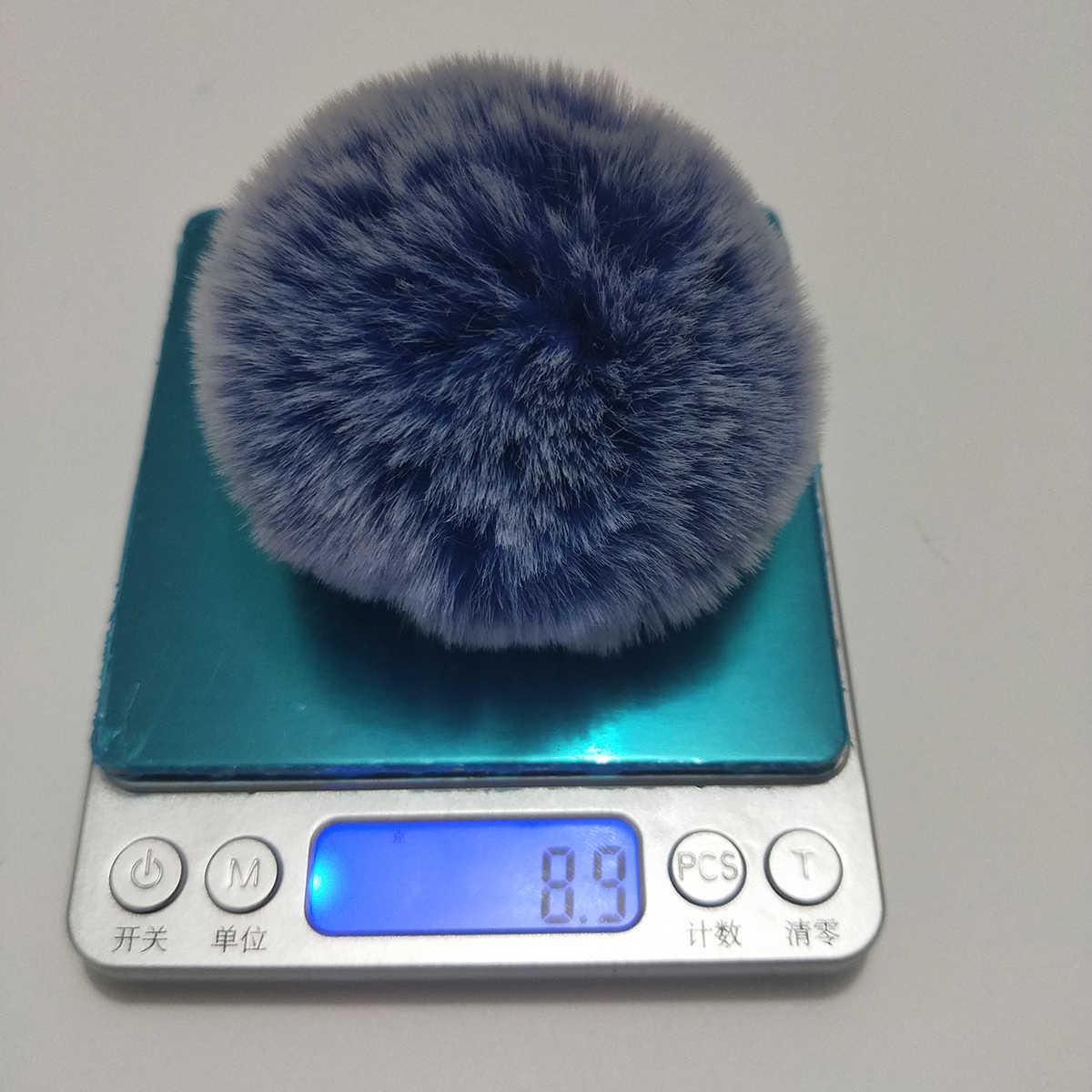 Mulheres Bolsa Charme 8 cm Pele Pom Pom Bola com Elástico Imitação De Pele Pompom Acessórios Keychain Llaveros Casal Cores Gradiente