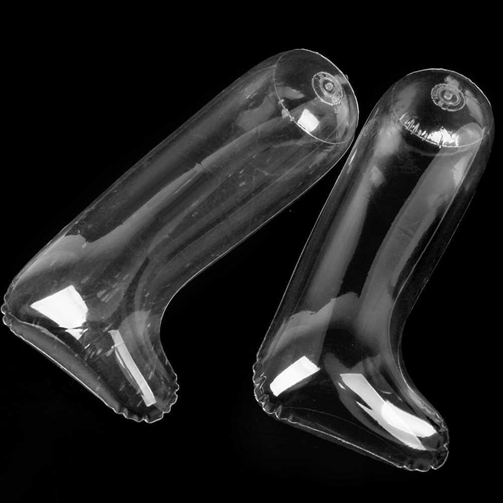 1 пара пластик надувные ботинки обуви Носилки 30 см прозрачный