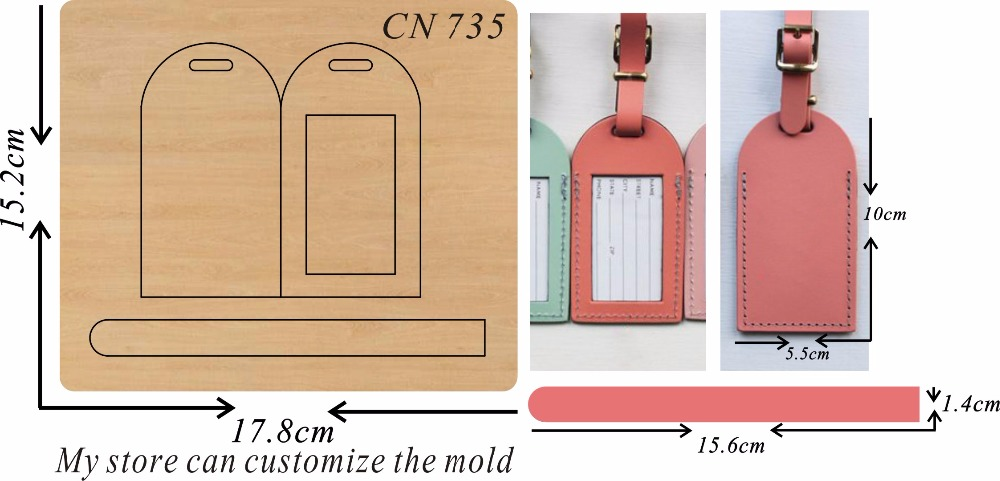 key ring card bag new wooden mould cutting dies for scrapbooking Thickness 15 8mm