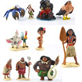 10 unids Moana Princesa Figura Modelo Caliente Moana Maui Waialik Heihei Figuras de Acción de Juguete Para Niños Brinquedos Colección