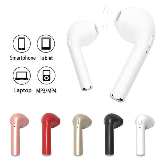 i7 i7s In-Ear Bluetooth Earphone Mini Wireless Headphones Earpiece Handsfree Headset with Mic Cordless Earbud for iPhone xiaomi