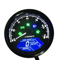 IZTOSS 15000rpm LCD Digital Motorcycle Odometer Speedometer Tachometer Adjustable MAX 199KM/H Car Styling