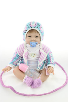 "22""55cm Reborn silicone babies modeling menina bonecas handmade alive Dolls Reborn realistic vinyl newborn Xmas Gifts toys"