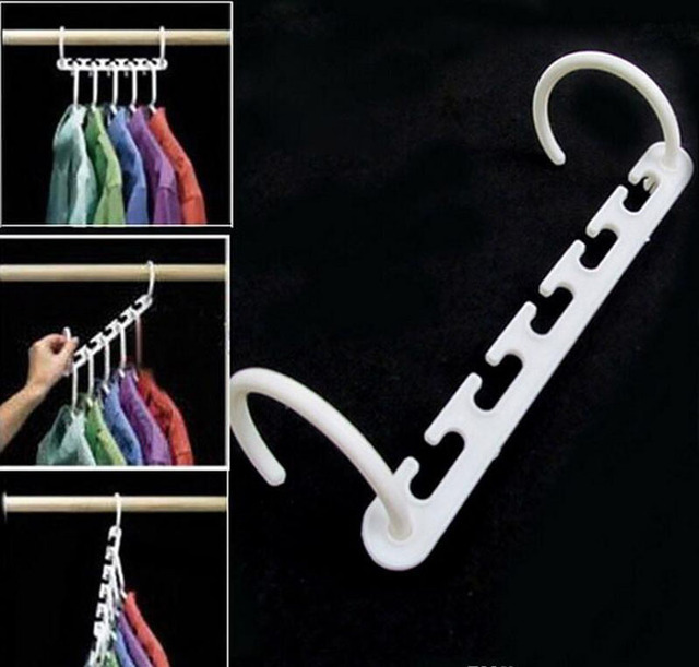 Space Saver Wonder Magic Clothes Hangers Closet Organizer Hooks Racks  Useful NEW With Gift Box