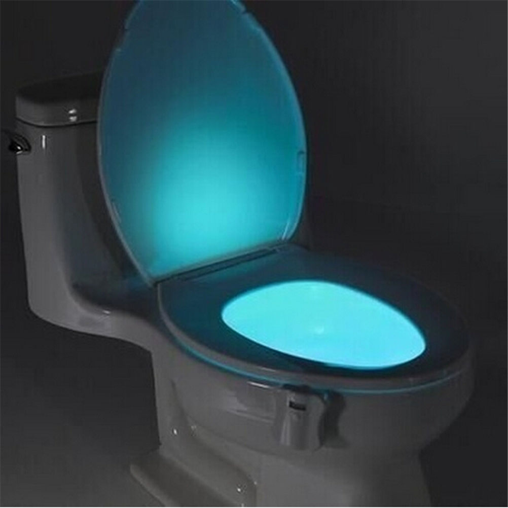 Led night light bathroom - 8 Color New Home Waterproof Use Led Toilet Light Sensor Night Light Bathroom Nightlight Motion Activated