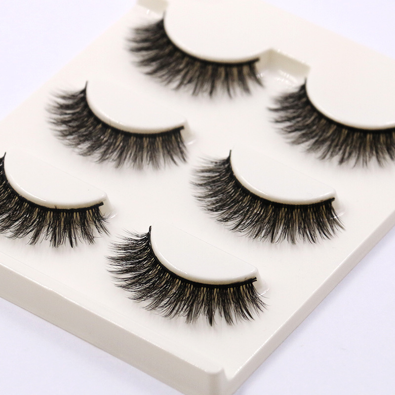 YOKPN Handmade Cotton Hard Stem Natural Fake Eyelashes 3D Cross Messy Thick Eye Lashes Eye Makeup Tools Soft False Eyelashes