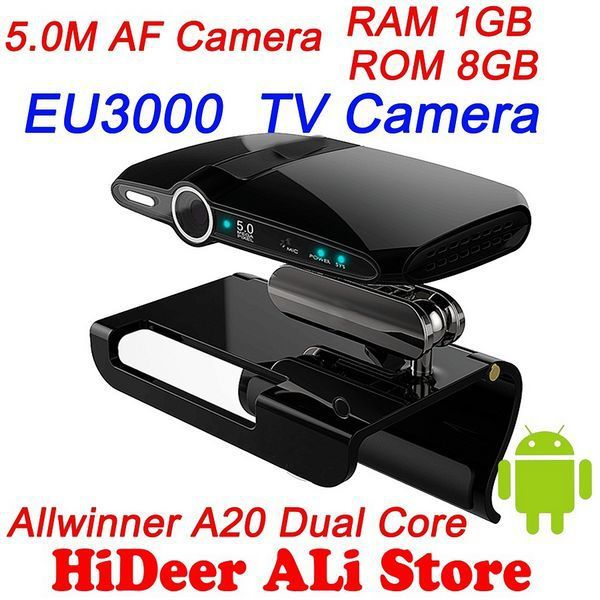 EU3000 5.0MP and Mic Android Google TV Box Camera HDMI 1080P RAM 1GB ROM 8GB skype Free Shipping