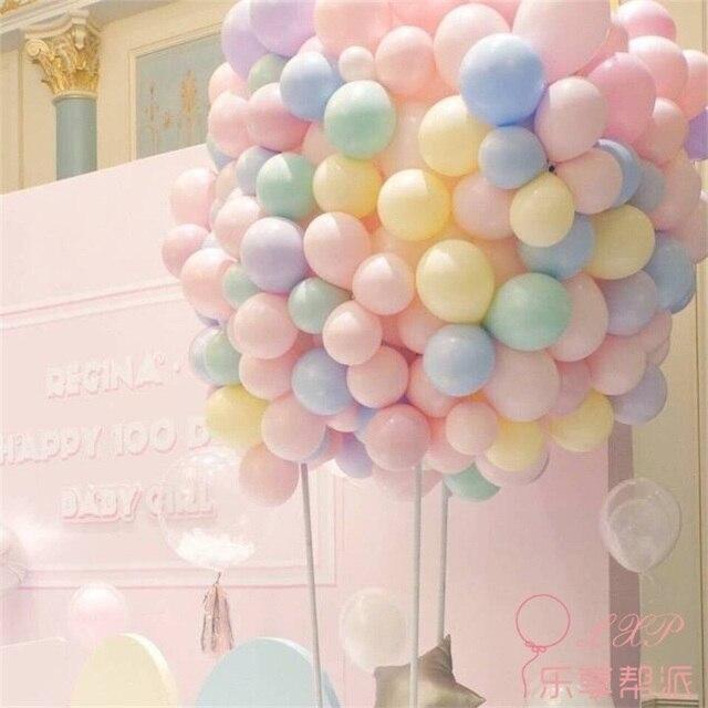 100 pièces 10 pouces Latex ballon Macaron couleur mariage décoration Baloons bébé fête d'anniversaire saint valentin décor ballon