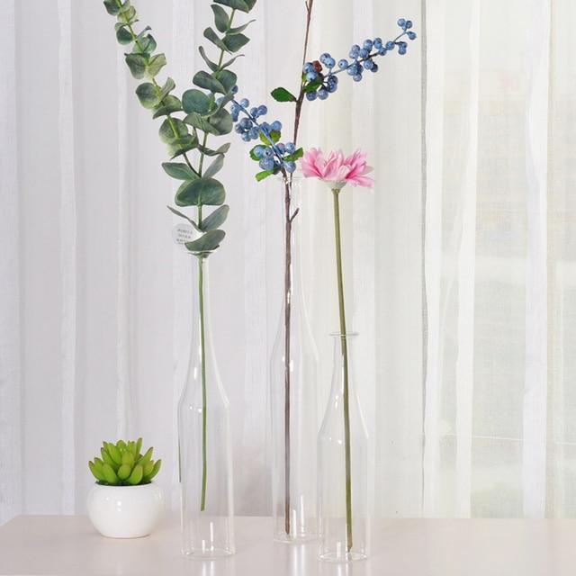 Transparent Glass Vase Neck Hanging Decorative Floral Fashion Of