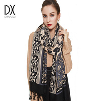Winter Scarf 2017 Cashmere Scarf Women Plaid Blanket Scarf New Designer Wool and Silk Basic Shawls Women's Scarves Face Shield