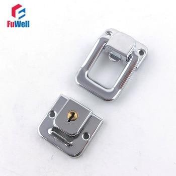 40pcs R402 Toggle Latch Cabinet Box Lock Square Sharpe With Key Spring Latch Catch Toggle Locks