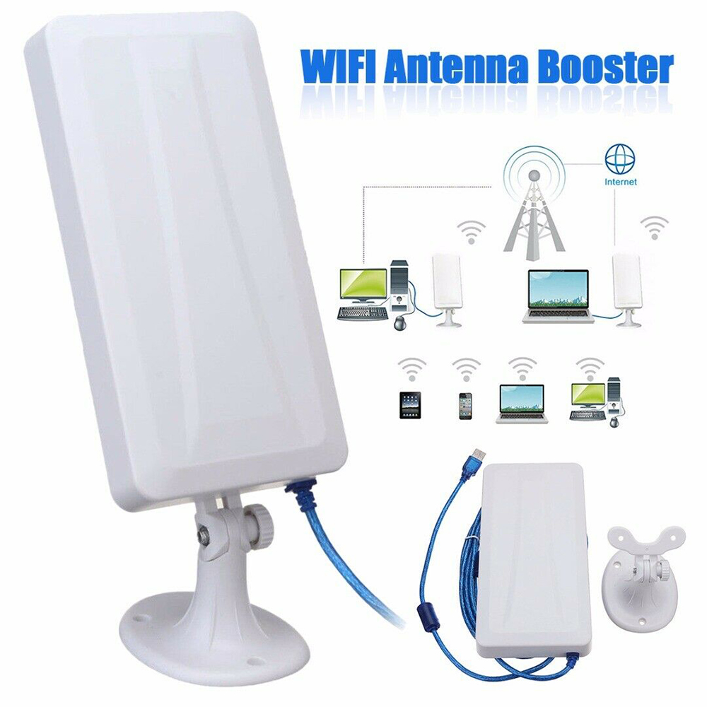 Long Range WiFi Extender Wireless Outdoor Router Repeater WLAN Antenna For Booster5m