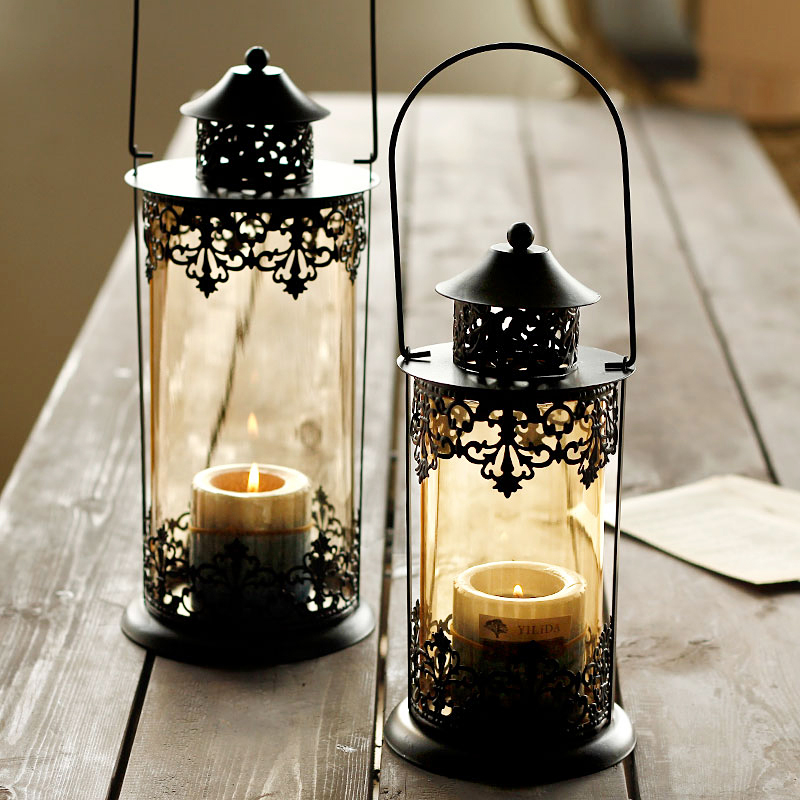Decorative Wrought Iron Candle Stand
