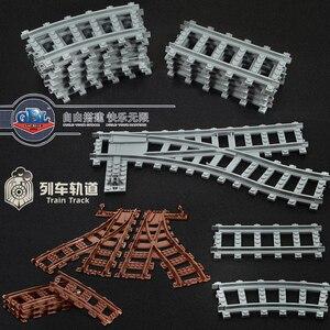 Image 1 - Ausini Flexible City Compatible pour les Trains Lego Rail Rail Rail modèle ensembles fourchus droite courbe blocs de construction brique jouet