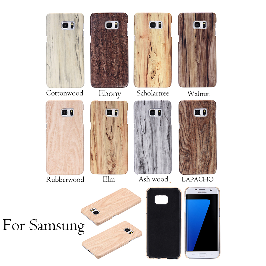 S6 S7 Wood Phone Cases For Samsung Galaxy S6 Edge Plus S7 Edge Funda Wooden Soft Tpu Silicone Silicon Cover