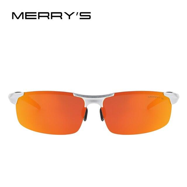 MERRY'S Men Polarized Sunglasses Aviation Aluminum Magnesium Sun Glasses For Fishing Driving Rectangle Rimless Shades S'8277