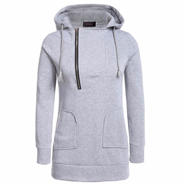 3b86efc3323 Hoodies Woman Sweatshirt 2017 Hoodies Autumn Winter Zipper Hoodie Casual Hooded  Sweatshirt Woman Coat Fleece Female Sweatshirts