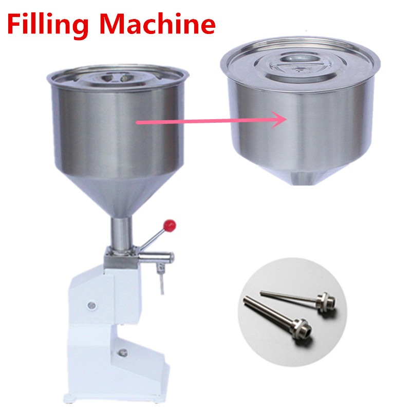 High Quanlity Manual Press Filling Machine Stainless Steel 5-50ml Cream Food Paste Dispensing Liquid Packaging Equipment fast food leisure fast food equipment stainless steel gas fryer 3l spanish churro maker machine