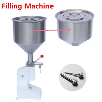 Quanlity גבוה עיתונות ידנית נירוסטה מכונת מילוי 5-50 ml קרם נוזל מחלק דבק מזון ציוד אריזה