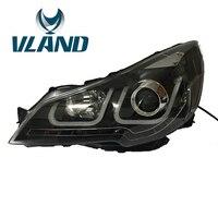 VLAND фабрика для автомобиля налобный фонарь для Subaru Outback 2014 2016 светодиодный бар фар DRL H7 ксеноновая лампа Plug And Play + светодиодный головного свет