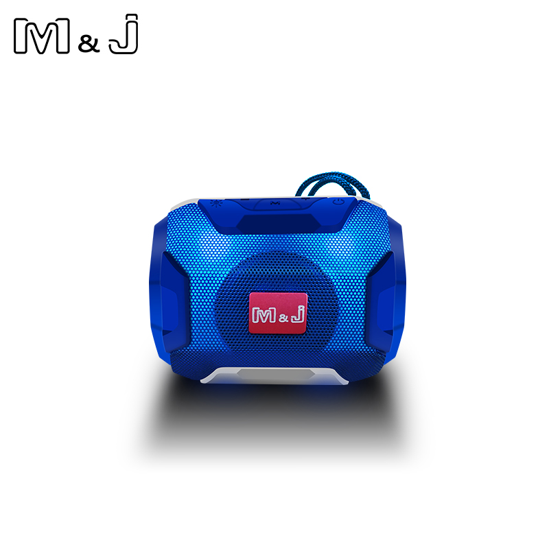 M&J Mini Wireless Bluetooth Speaker With LED TF Support USB Sub Woofer And Mp3 Stereo Audio Music Player 12