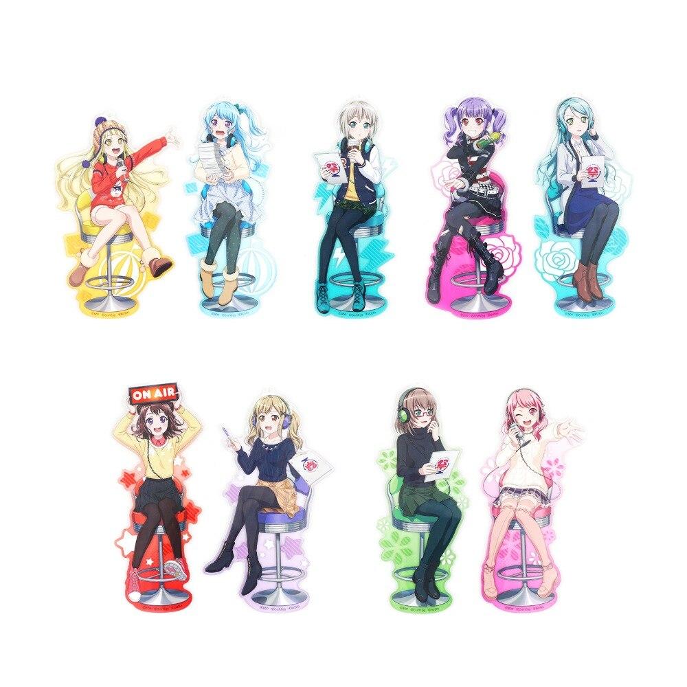Bang Dream! Roselia Poppin'Party Afterglow Pastel*Palettes Anime Game Kaa-kun Kokoron Aa-chan Moca Sayo Ako Acrylic Keychain