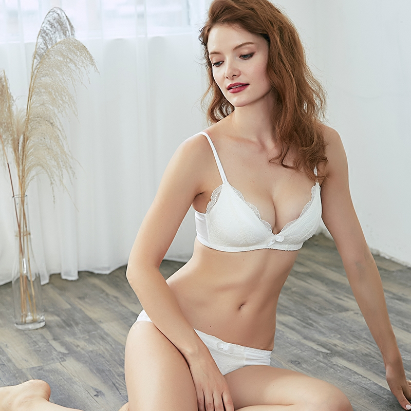 CINOON Lace Bralette Sexy   Bra     Set   Push Up Underwear Lace Thin-Strap   Bra   &   Brief     Sets   Wire free Breathable Comfortable Lingerie